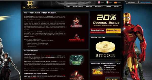 The Homepage Of The BC Casino