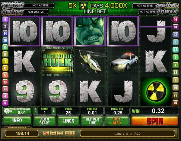 Spin The Wheels - Hit Hulk Symbols For BONUS SMASH