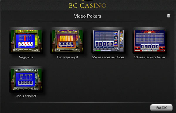 Choose From Five Video Poker Games